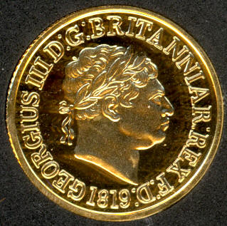 Rare Perfect Proof Restrike of the 1819 Sovereign