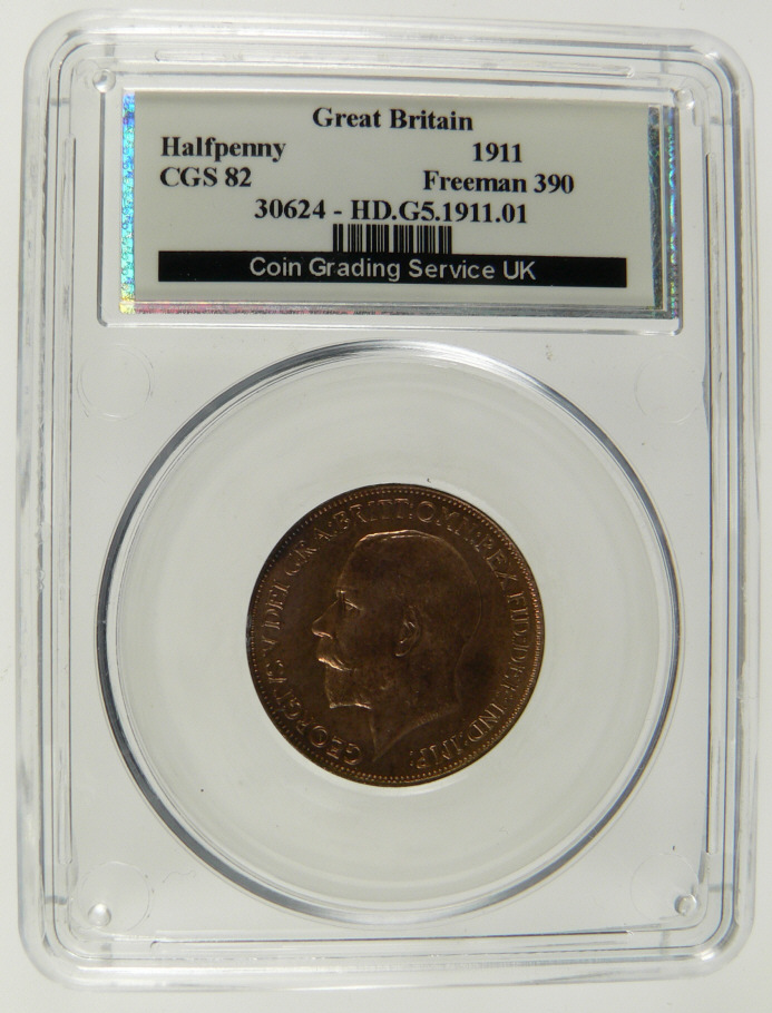 This coin has been officially graded professionally encapsulated and